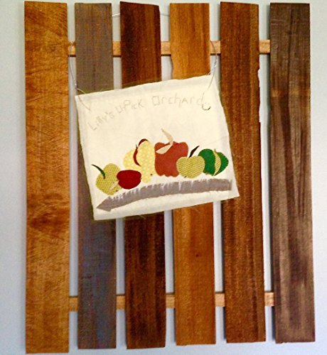 Lilly's U-Pick Orchard Quilt / Art Quilt / Wall Hanging / Picket Fence by Puffball Designs