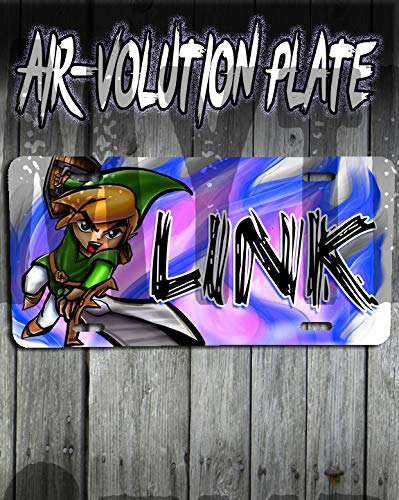 Personalized Airbrush Link Legend License Plate Tag ()