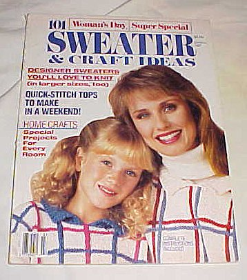 Womans Day 101 Sweaters - Woman's Day 101 Sweaters & Craft Ideas Knit & Crochet (March 1987) 1987