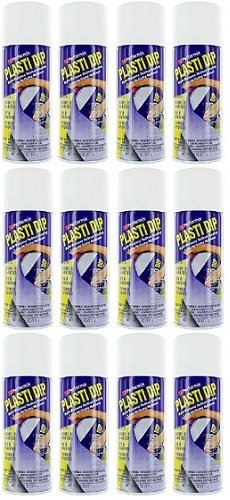 12-PACK Performix PLASTI DIP WHITE 11OZ Spray CAN Rubber Handle Coating