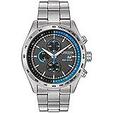 Citizen Men's Eco Drive Quartz Stainless Steel Dress Watch, Color:Silver-Toned (Model: CA0251-53E)
