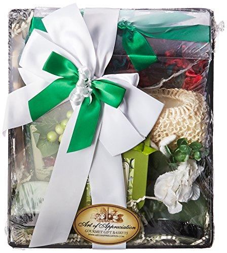 Art of Appreciation Gift Baskets Spa Day Get-a-way Green Tea Spa Bath and - Gift Getaway Basket