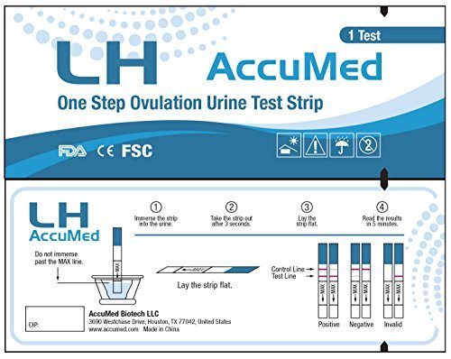 AccuMed Combo 50 Ovulation (LH) & 30 Pregnancy (HCG) Test Strips by Accumed