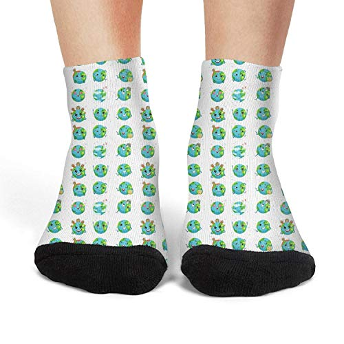 Earth Day Happy Life Save Your Women Comfortable Cotton Invisible Performance Sock