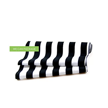 Black And White Striped Table Runner By We Can Package