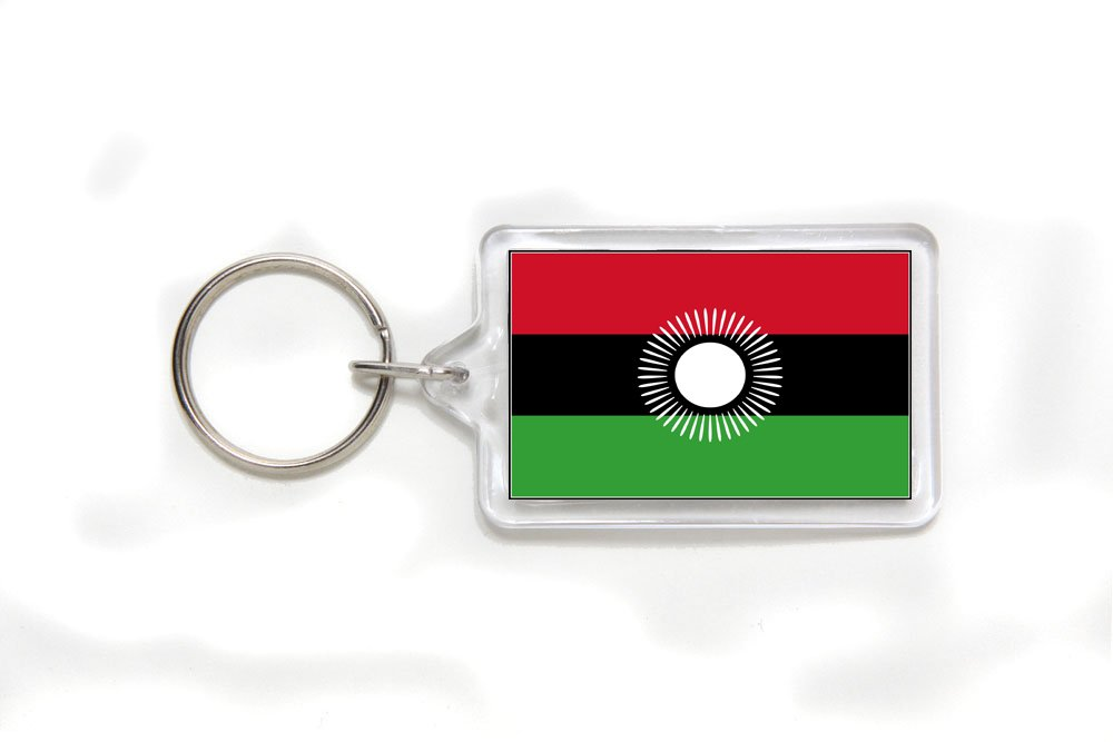 Malawi Malawian Flag Double Sided Acrylic Key Ring Small