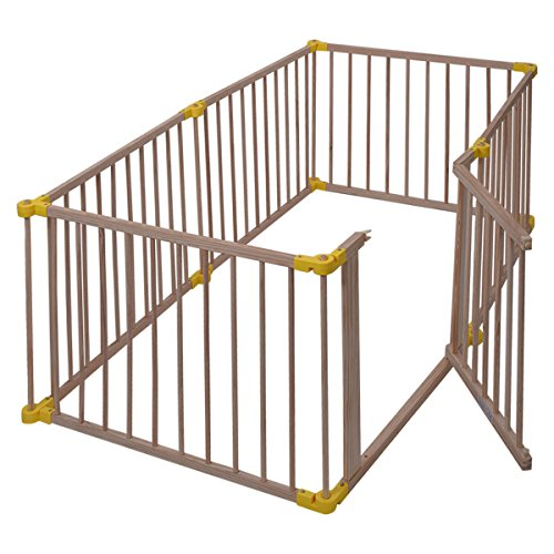 Wood Solid Pine Wood Baby Playpen With Ebook by MRT SUPPLY (Image #5)