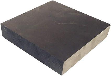 100MMx100MMx30MM OTOOLWORLD 99.9/% Purity Graphite Ingot Block EDM Graphite Plate Milling Surface