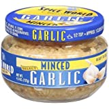 Spice World Minced Garlic 4.5 Oz Jar
