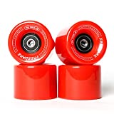 Freedare Skateboard Wheels 60mm 83a with Bearings and Spacers Cruiser Wheels (Pack of 4)