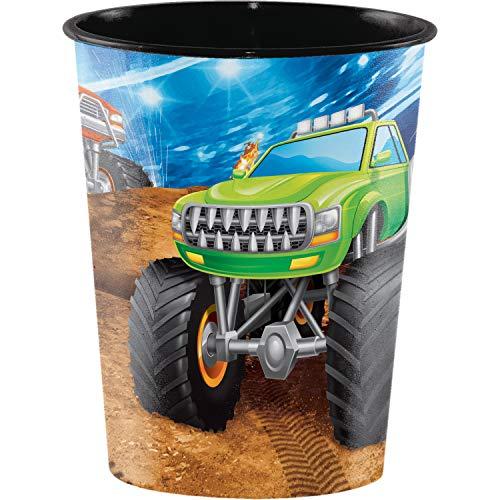 (Monster Truck 16 oz Plastic Cups, 8 ct)