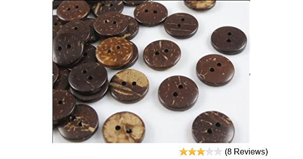 Amazon Com 200 Pcs New Thick Coconut Shell 2 Holes Button Craft
