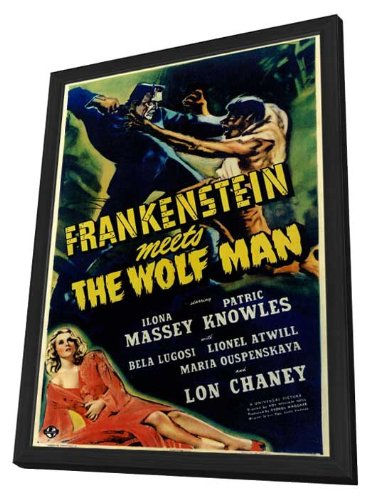 Frankenstein Meets the Wolf Man - 27 x 40 Framed Movie Poster