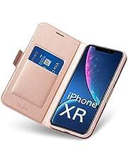 Aunote Hülle für iPhone 6/6s/7/8/7Plus/8Plus/X/Xs/Xr/Xs Max, Premium PU Leder Handytasche mit Kartenfächer, Ständer und Magnetverschluss.