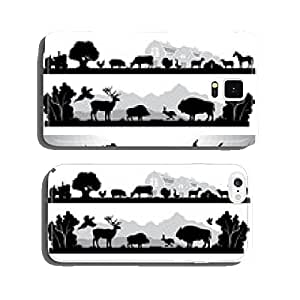set of black and white landscapes wildlife, farm, marine life cell phone cover case iPhone5