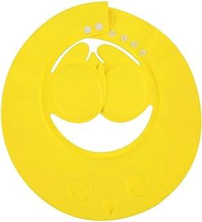 Zerodis Visiere de Bain Bébé Douche Casquette Anti Shampoing Ultra Léger d'EVA Doux Enfant Bonnet Protection Yeux Oreille Bonnet de Bain Taille Réglable pour Enfant 3 Mois - 6 Ans(Rose)