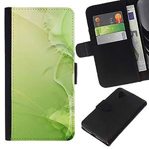 Stuss Case / Funda Carcasa PU de Cuero - Naturaleza Hermosa Forrest Verde 37 - LG Nexus 5 D820 D821
