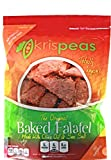 krispeas High Protein Snack – Low Carb, Vegan & Gluten Free, Hot & Spicy, Green Split Pea Baked Falafel Chips, 7 oz