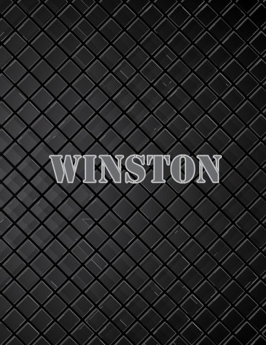 Winston: 110 Pages 8.5x11 Inches Black Leather Journal Name Lettering, Journal Composition Notebook for All