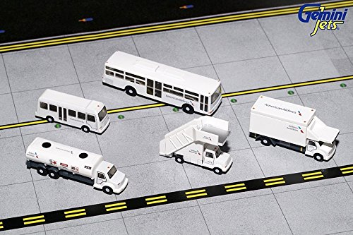 Gemini Jets American Airlines Airport Service Vehicles; Trucks 1:200 Scale Model Die-Cast Part# (American Airlines Diecast Airport)