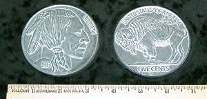 """REPLICA 1913 Buffalo Nickel. Big Huge Large 3"""" Metal Coin"""