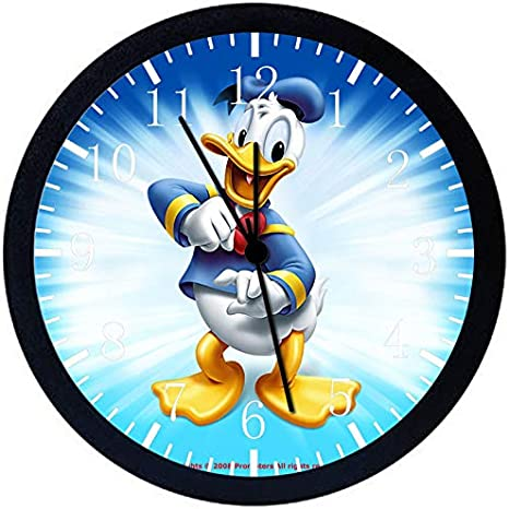 Donald Duck Silent Non Ticking 12 Large Wall Clock Glass Nice For Gift Or Wall Decor E118 Home Kitchen