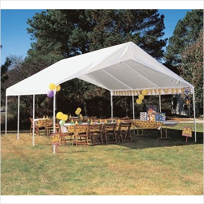 Hercules Canopy Powder Coated Frame 18Ft x (Hercules Canopy Carport)