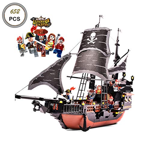 Keefe GUDI Building Blocks Sets Caribbean Pirate Black Pearl Ship Model (9115)