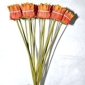 FatColo(R) 10 pcs Silk Artificial Fake Plastic Daisy Chrysanthemum Flowers Sun Chrysanthemum,Sunflower, Simulation Gerber, Dimorphotheca,Party Room Home Decoration DIY Flower Bouquet 120