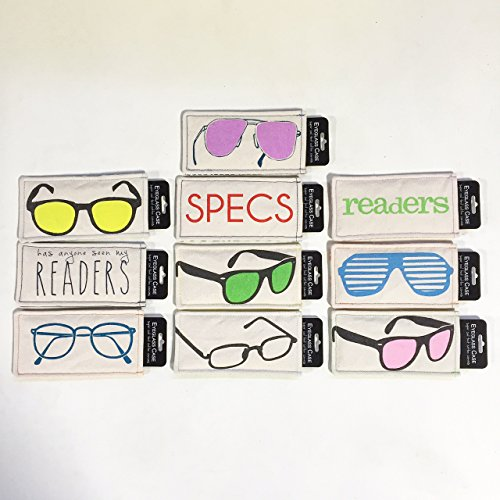 Eyeglass Case, Soft Cotton Pouch, (Variety Pack of ()