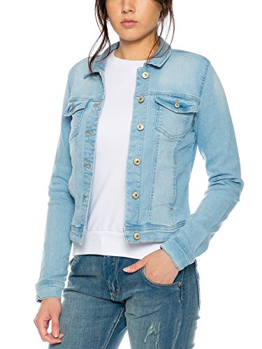 ONLY - Chaqueta - Blusa - Manga Larga - para mujer azul claro