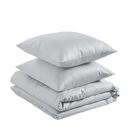 AmazonBasics - Juego de funda nórdica ligera de algodón - 260 x ...