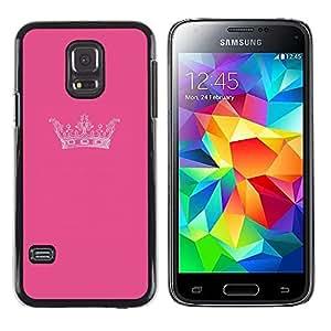 LECELL--Funda protectora / Cubierta / Piel For Samsung Galaxy S5 Mini, SM-G800, NOT S5 REGULAR! -- King Pink Brand Minimalist Design --
