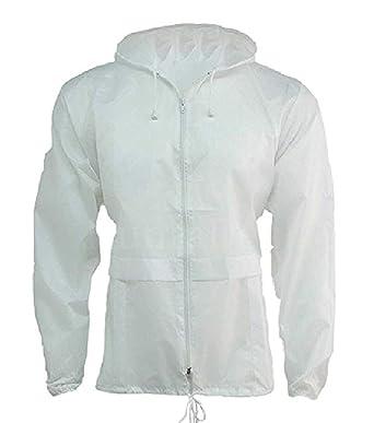 HuntaDeal Unisex Men Women Rain Mac Raincoat Showerproof Cagoule Kagool  Kagoul KAG Festival Parka Jacket Hooded daed1401c1
