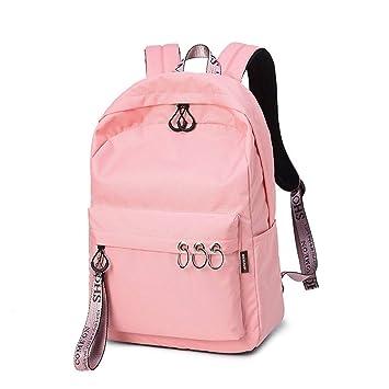 Escuela De Mujeres Ordenador PortáTil Llavero Viaje Diario Mochilas Negras Mochila Escolar Pink 14 Inches: Amazon.es: Equipaje