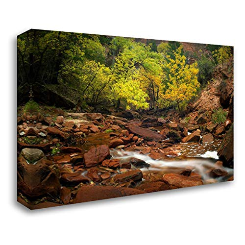 Zion Canyon Near Emerald Pools, Zion National Park, Utah 37x28 Gallery Wrapped Stretched Canvas Art by Fitzharris, Tim ()
