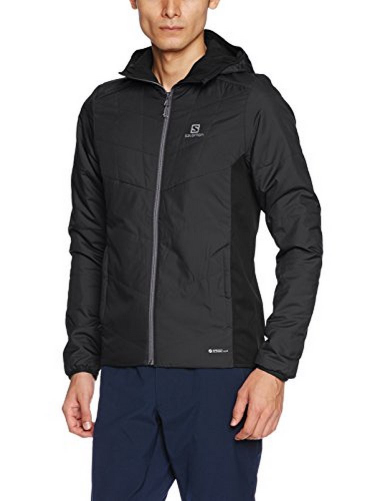 Salomon Men's Drifter Mid Hoodie, Black, Medium by Salomon
