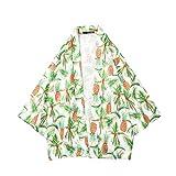 iYBUAI Kimono for Men's - Summer Hawaii Floral Printed Lightweight Shirts Cardigan Jackets Streetwear Green