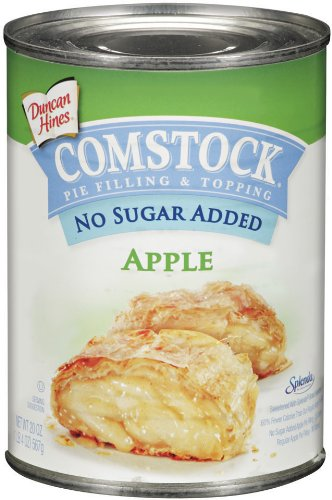 Comstock No Sugar Added Apple Pie Filling and Topping, 20-Ounce (Pack of 6)