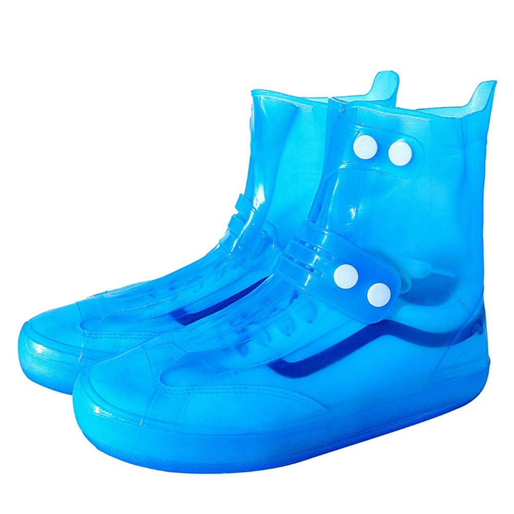 Yao Space Fashion Creativity Travel Outdoor Riding Rain Boots Set One Wear-Resistant Anti-Slip Design Portable (Color : Blue, Size : L) by Yao Space