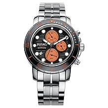 Jiusko Men's 76LSB12 Deep Sea Series Analog Display Quartz Silver Watch