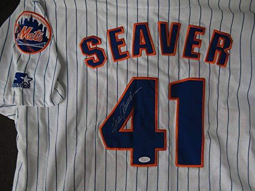 Autographed Tom Seaver Jersey - Loa Pc596 - JSA Certified - Autographed MLB Jerseys