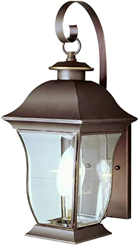 Trans Globe Lighting Trans Globe Imports 4970 BN Transitional One Light Wall Lantern from Downing Collection in Pwt, Nckl, B S, Slvr. Finish, 8.75 inches, Brushed Nickel