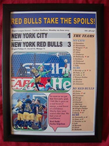 - New York City 1 New York Red Bulls 3 - 2015 MLS - framed print