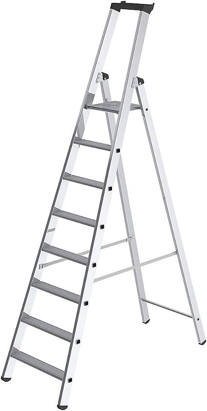 Escalera de peldaños, acceso un lado – Modelo Estándar – 8 peldaños – escalera – escalera de peldaños escabeaux escabeaux