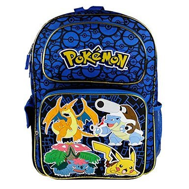 Pokemon Zoofy Full Size Blue 16 Backpack (Sew Kids Boys Short)