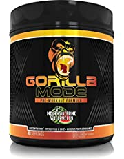 Gorilla Mode Pre Workout - Massive Pumps · Laser Focus · Energy · Power - L-Citrulline, Creatine, GlycerPump™, L-Tyrosine, Agmatine, Kanna, N-Phenethyl Dimethylamine Citrate - 617 Grams (Watermelon)