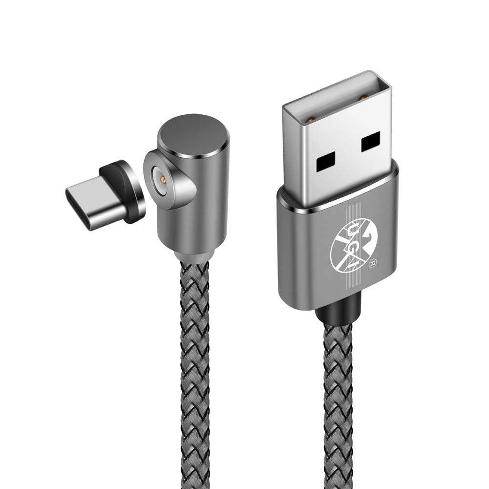 Magnetische 90 /° Ellenbogen Micro USB Runde Magnetic 2.4A Schnell Ladekabel LED f/ür Sam Sung Galaxy S7 Rand // S7 // S6 // S4 // S3 MP3 und mehr nur Lade Kindle