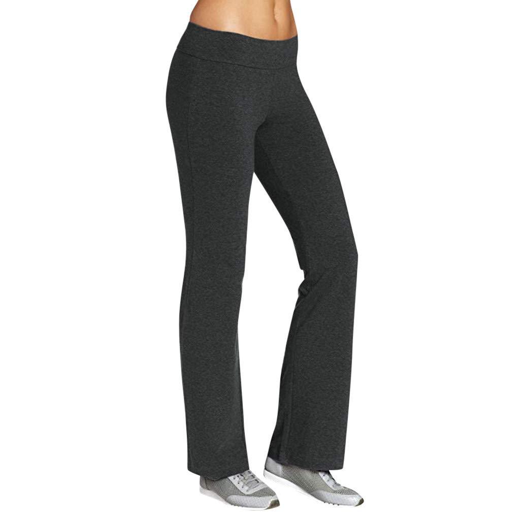 Zainafacai Women's Activewear,Bootcut Yoga Pants Tummy Control Petite to Plus Size Flared Stretch Workout Pants Gray