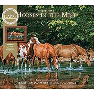 2019 Horses in The Mist Special Edition 2019 Wall Calendar, Horses by Lang Compa